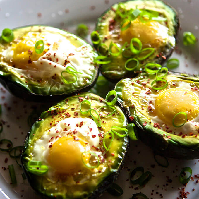 Baked Avocado w/ Eggs